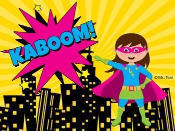 Sight Word Slide Show, Literacy First List A, Words 51-100, Superheroes