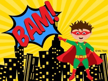 Sight Word Slide Show, Color and Number Words, Superheroes