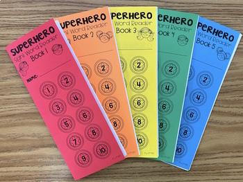 Superhero Sight Word Reader Books