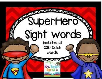 Superhero Sight Words  (Dolch List)