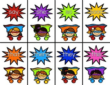 Superhero Sight Words EDITABLE