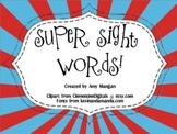 Superhero Sight Words!  Interactive Smartboard Activity