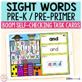 Superhero Sight Words Pre-Primer / Pre-K Boom Cards™ | Dig