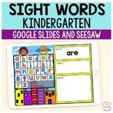 Superhero Sight Words Primer / Kindergarten - Google Slide