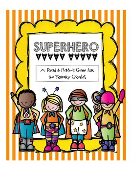 Superhero Sight Words [Read & Match Game]