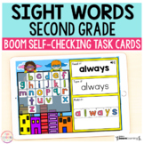 Superhero Sight Words Second Grade Boom Cards™ | Digital T