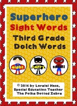 Superhero Sight Words: Third Grade Sight Words