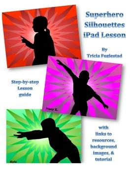 Superhero Silhouette: iPad Art and Character Education Graphic Design