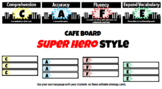 Superhero Skyline Cafe Headers and Editable Strategy Cards