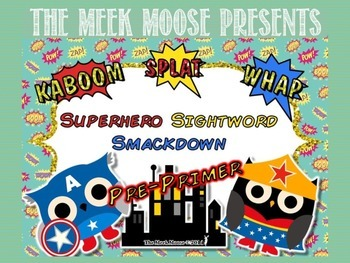 Superhero Smackdown - Dolch Sight Word Game - Pre-Primer