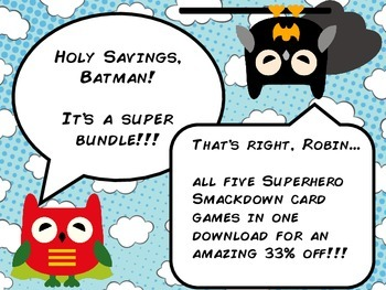 Superhero Smackdown - Dolch Sight Word Game - Super Bundle