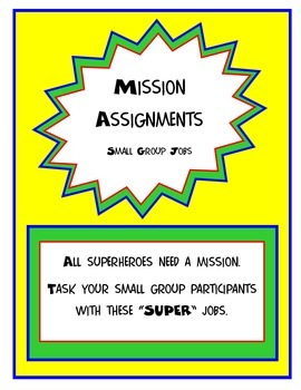 Superhero Small Group Jobs