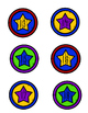 Superhero Small Number Star Labels