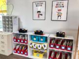 Superhero Smarts Theme Organized Teacher's Tool Kit + Decor Set