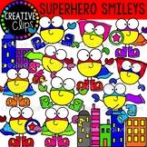 Superhero Smileys {Superhero Clipart}