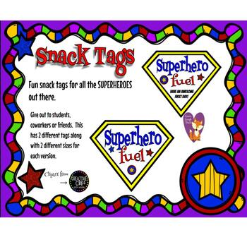 Superhero Snack Tag