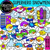 Superhero Snowmen Clipart {Winter Clipart}