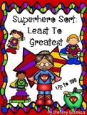 Back To School Superhero Sort: Least To Greatest Up to 100