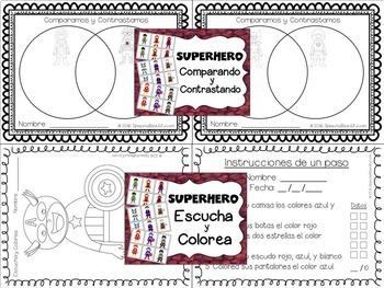 Superhero Spanish Articulation and Language MEGA PACK -- NO PREP