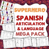 Superhero: Spanish Speech Therapy Articulation and Language MEGA PACK -- NO PREP