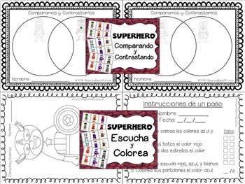 Superhero: Spanish Speech Therapy Articulation and Language MEGA PACK -- NO PREP