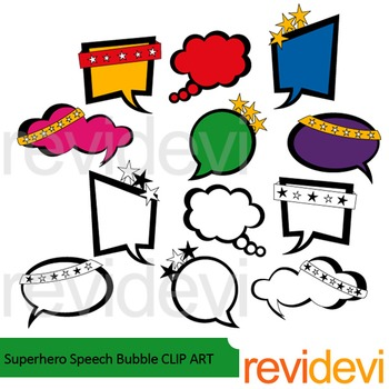Superhero Speech Bubble Clip Art
