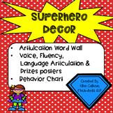 Superhero Speech Decor