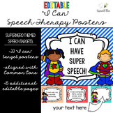 """Superhero """"I Can"""" Statements for Speech Therapy--Editable!"""