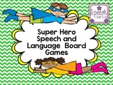 Superhero Speech & Language Board Games!