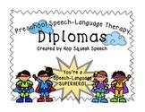 Superhero Speech-Language Diplomas