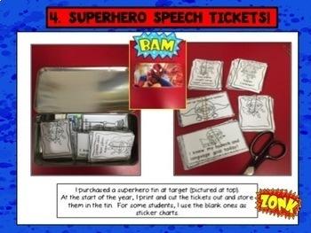 Superhero Speech Room:  Bundle  of 4  Products!!