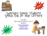 Superhero Speech Students Student End of Year Letters