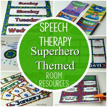 Superhero Speech Therapy Room Resources Pack