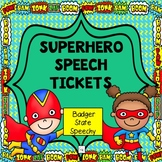 Superhero Speech Tickets for Speech Therapy
