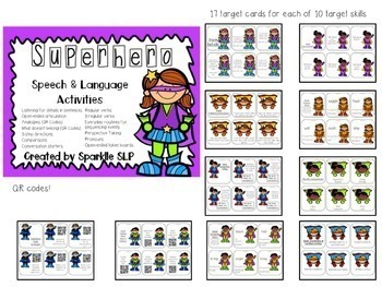 Superhero Speech and Language Thematic Pack for Mixed Groups