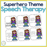 Speech and Language Themed Therapy Unit for Mixed Groups:  SUPERHERO