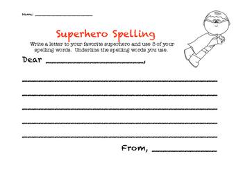 Superhero Spelling