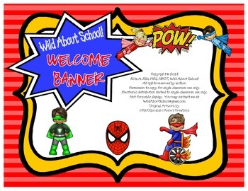 Superheroes Spiderman Welcome Banner