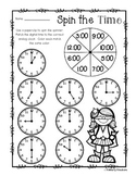 Superhero - Spin the Time: Telling time to the :00 (o'clock) / :30 (half hour)