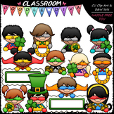 Superhero St. Patrick's Day Topper Kids - Clip Art & B&W Set
