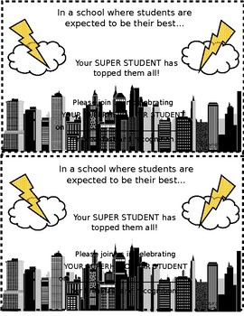 Superhero Star Student Invitations