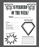 Superhero Star Student Poster