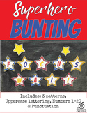 Superhero Star Themed Bunting Mega Pack-(Alphabet, Numbers, and More)