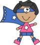 Superhero Stars Clip Art