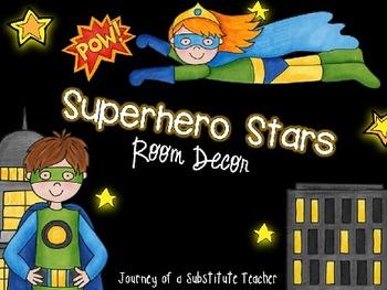 Superhero Stars Room Decor Pack