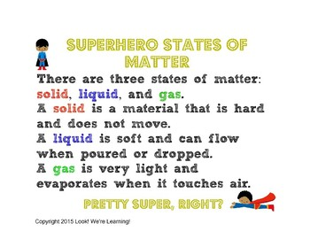 States of Matter Lesson - Superhero States of Matter Experiment!
