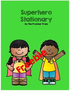 Superhero Stationary Freebie