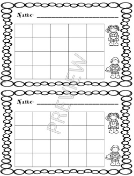 Superhero Sticker Charts - Color and Black and White