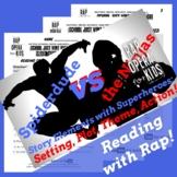 Superhero Story Elements Reading Passage, Worksheets, & Qu