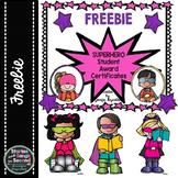 Superhero Student Welcome or Award Certificates -- Editable {FREE}